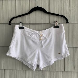 Juicy Couture White Terry Cloth Shorts